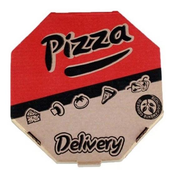 25 Caixas Pizza 30cm Grande Papelão Kraft Delivery Premium