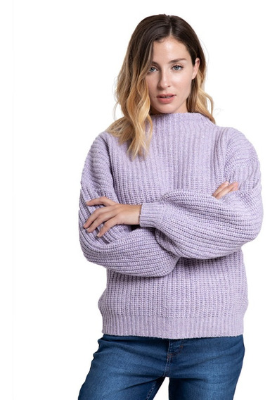 Sweater Mujer Rusty Essence Crew Thistle