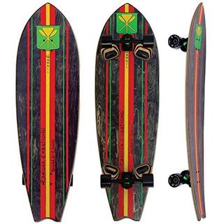 Kahuna Creations Shaka Kahili Land Paddle Board, Negro / Roj