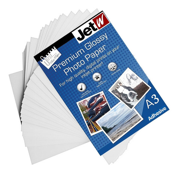 Papel Premium Glossy Adesivo Brilho Photo 135g A3 100 Folhas