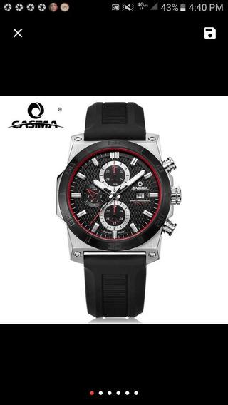 Reloj Marca Casima, 10 Bar,100m, Para Toda Ocacion Muy Lujos