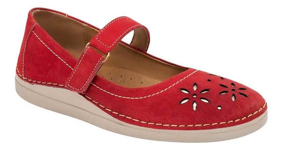 Flats De Mujer Rojo 091-672
