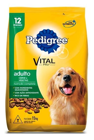 Ração Pedigree Carne E Vegetais Para Cães Adultos 15kg