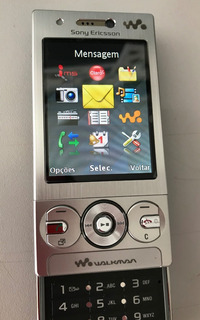Celular Sony Ericsson W705a Prata Silver Completo Coleção