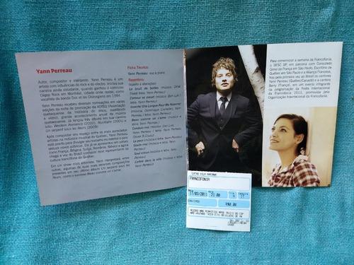 Imagem 1 de 3 de Ingresso Convite Folder Yann Perreau Berry 2011 Vila Mariana