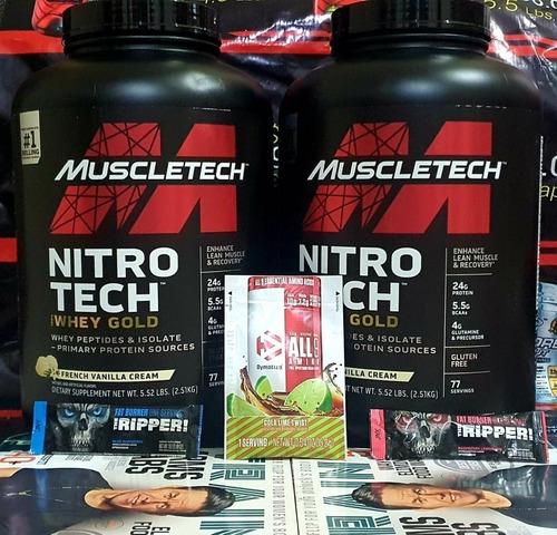 Proteina Nitrotech Whey Gold 5.5lb $3795