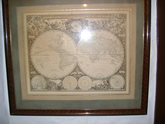 Antiguo Mapa Enmarcado Frederick De Wit