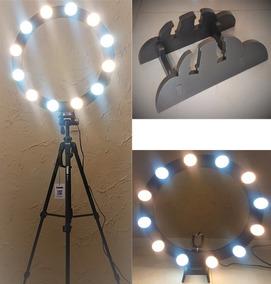 Ring Light 12 Lampadas Led 5w 2em1 + Tripé + Kit Selfie