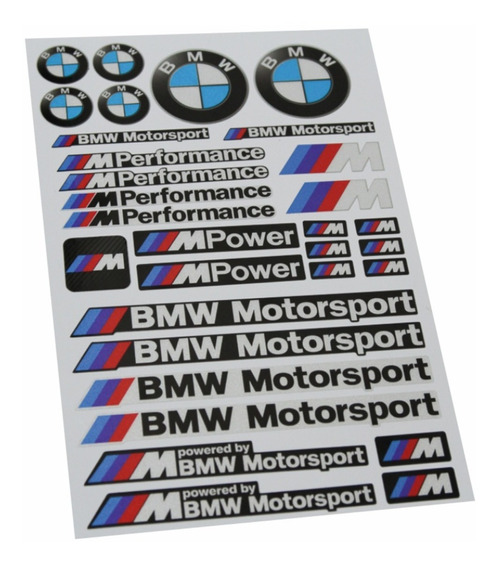 Kit Adesivos Capacete Moto Bmw M Power Motosport Kit Ktcp140 Fgc