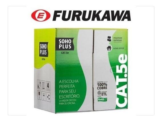Cabo Cat5e Furukawa 150 Metros U/utp 24awgx4p Cmx Cobre