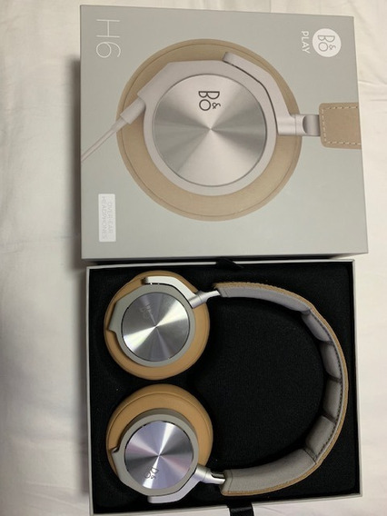 Headphone Premium - Bang & Olufsen H6 - Couro Bege - Novo!!!