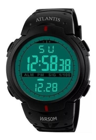 5 Relógios Atlantis Militar Original 7330 + Bateria Reserva