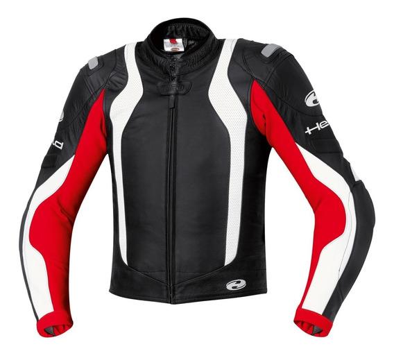 Campera Moto Deportiva Held Street 2 Cuero Proteccion Roja