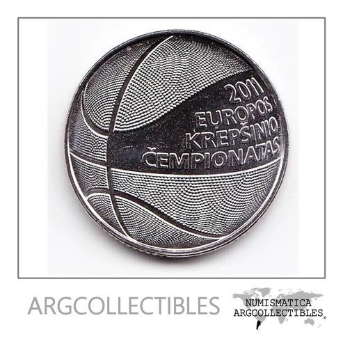 Lituania Moneda 1 Litas 2011 Campeonato De Baloncesto