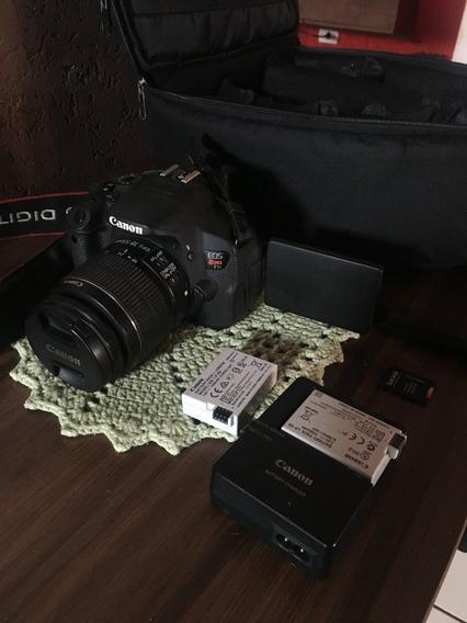 Câmera Canon T5i+ Lentie 18/55 +bolsa+cartão 32 Gb +2 Bateri