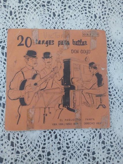 20 Tangos Para Bailar Don Goyo (disco De Vinilo)