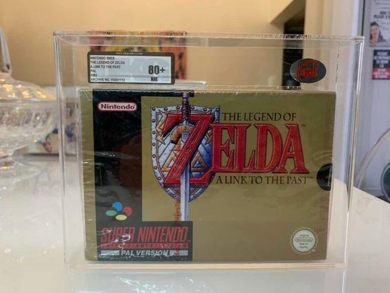 Zelda Snes Vgk 80+ Super Nintendo Lacrado Vga Pal Version