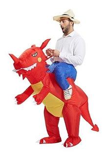 Toloco - Disfraz De Dinosaurio Inflable T-rex Adulto Para