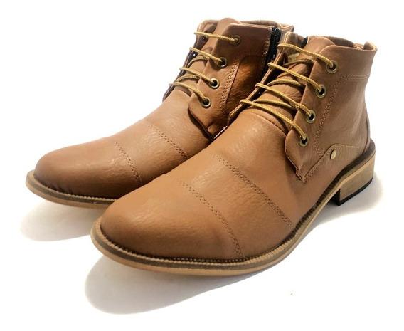Zapato De Hombre Botita Simil Cuero