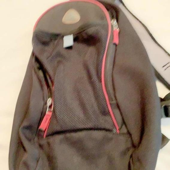 Mochila Mini En Negro Y Bordo Nike Original
