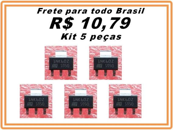 Stn1nk60z 1nk60z Transistor Mosfet Kit 5 Peças