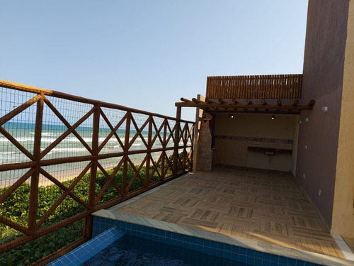Imagem 1 de 30 de Village Duplex, Somente Temporada, 4 Suítes, Beira Mar! - Ca00081 - 69818737