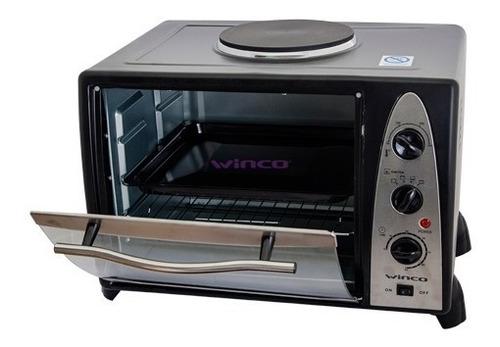 Imagen 1 de 6 de Horno Electrico Winco 36 Lts Con Anafe Grill 1600w