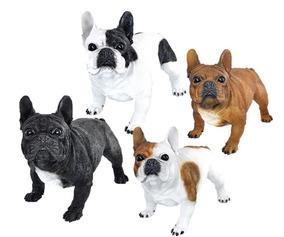 Filhotes Cachorro Bulldog Frances Decorações Jardim Resina