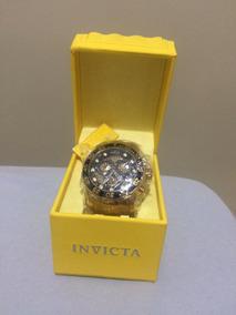 Relógio Invicta 19837 Pro Diver 18k Banhado A Ouro