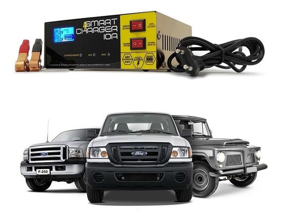 Carregador De Bateria 10a 12v 24v Universal Carro E Caminhao