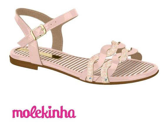 Sandália Infantil Molekinha Verniz Premium 2157539 Oferta
