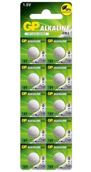 10 Pilhas Baterias Lr1130 Gp - 1 Cartela C/10 Un