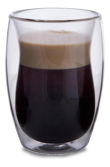Vaso 110 Ml Pack X2 Unidades Cafe Te Doble Vidrio Termico