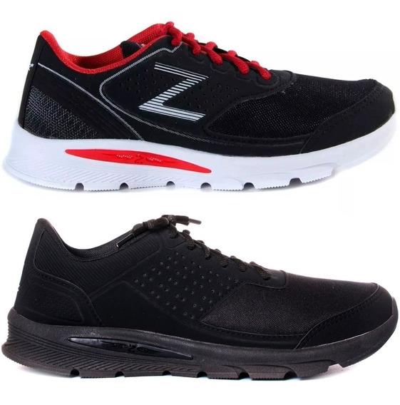 Tenis Zeus Kit 2 Pares Sapato Sapatenis 35 Ao 44 Academia Caminhada Barato .