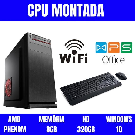 Pc Amd 8gb Ram Hd 320gb Wifi Windows 10