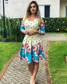 Vestido Godê Com Cinto E Pregas Moda Evangélica Estrela