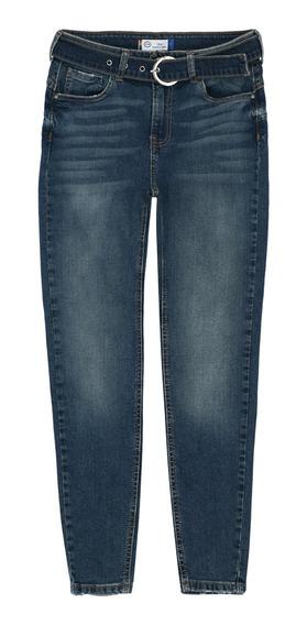 Jeans Con Cinturón Incluido De Mujer C&a Push Up