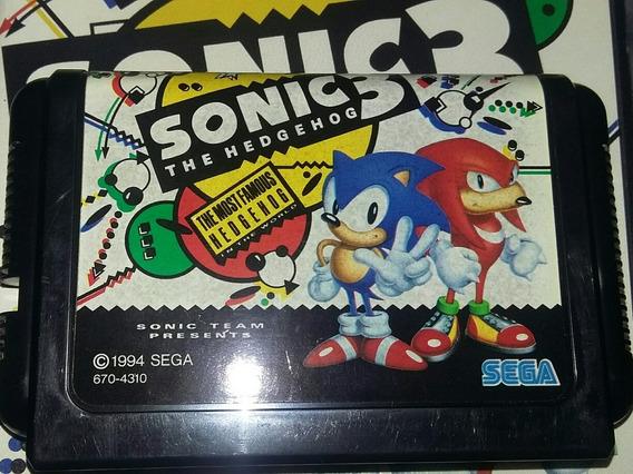 Sonic The Hedgehog 3 Original + Encarte - Mega Drive