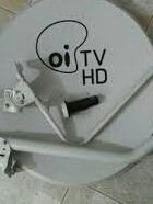 3 Antena Original Oi Tv 60cm E Kit Fixação 3 Lnb Duplos