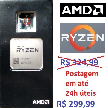 Processador Amd Ryzen 3 1200 3.1ghz 10mb Am4 Pronta Entrega!