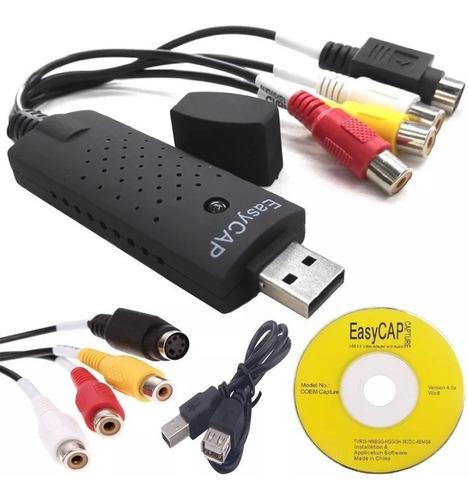 Capturadora De Video Y Audio Usb 2.0 Convierte Tus Vhs A Dvd