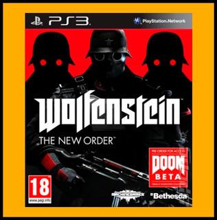 Wolfenstein The New Order Ps3 Acreditacion Inmediata Oxxo