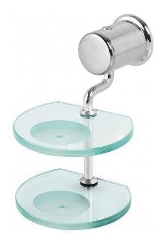 Saboneteira Dupla Super Luxo Banheiro Vidro 8mm