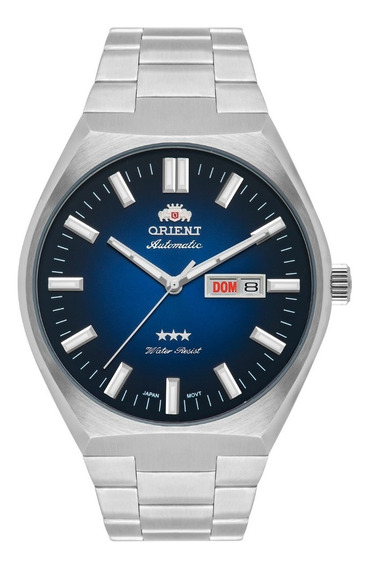 Relógio Orient Masculino Automático 469ss086 D1sx Azul Aço