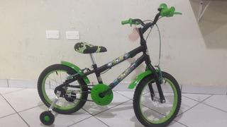 Bicicleta Aro 16 Masculina Verde E Preto Ben 10