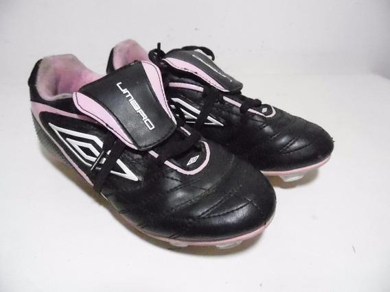 Zapatos Tenis Tacos Taquetes Niña Umbro Futboll 2usa G729