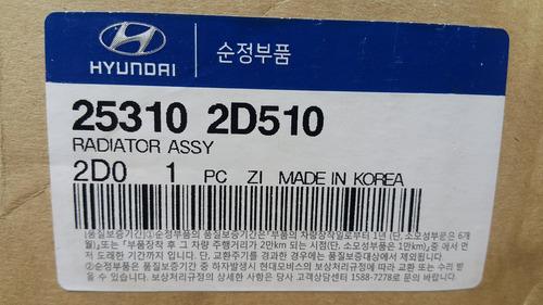 Radiador Hyundai Elantra 1.6 Automatico Original