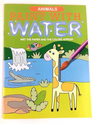 Animales Pintan Con Agua Libro Para Colorear Para Niños Fla