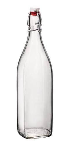 Imagen 1 de 3 de Botella Agua Con Tapón 1 Lt Bormioli Set 2 Pzs Envió Gratis