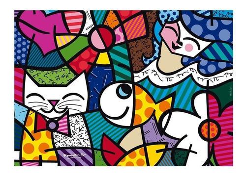 Puzzle Grow 1000 Peças Romero Britto Happy - Quebra Cabeças